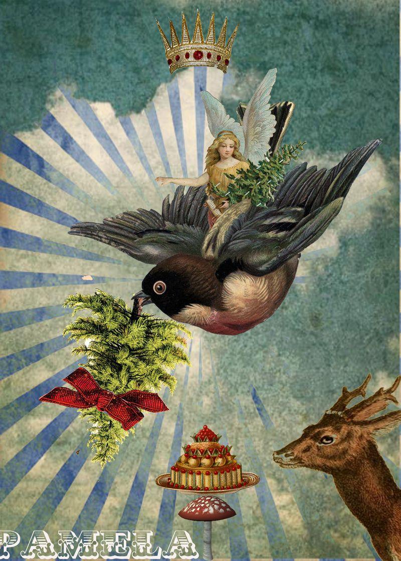 Holidaycardbirdangeltreewatermark